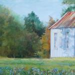 "Country Cabin 15"" x 40"" Watercolor on Aquabord Sold"