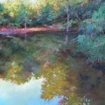 Reflections on a Morning Pond 14 x 11 Pastel $650