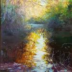Pond Reflection 20 x 16 Oil $1650