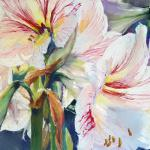 Lilies from the Yard 11 x 14 Pastel $650